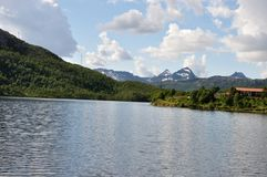 Mountains with lake sweden Stock Images
