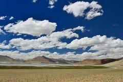 Mountains lake Tso Kar in Ladakh in India. Royalty Free Stock Photography