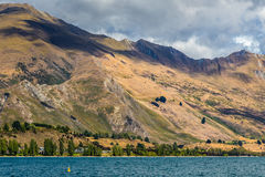 Mountains beside Lake Wakatipu, South Island, New Zealand Stock Images