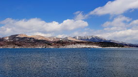 Mountains and Lake Yamanokako in Hakone, Japan Stock Photography