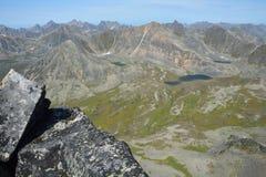 Mountains and lakes Barguzinsky Ridge in Lake Baikal Stock Images