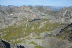 Mountains and lakes Barguzinsky Ridge in Lake Baikal Royalty Free Stock Images
