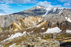 Mountains in Landmannalaugar valley in Iceland Stock Images