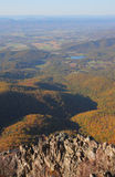 Mountains Landscape. Fall landscape view from the mountain cliff Stock Photo