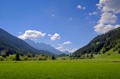 Mountains landscape. Landscape, Beautiful valley on blue sky Stock Images