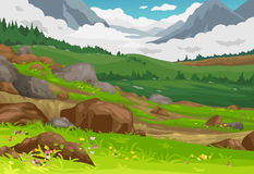 Mountains landscape background vector Royalty Free Stock Photo