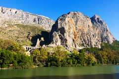 Mountains landscape with bridge. Andalusia Stock Photo