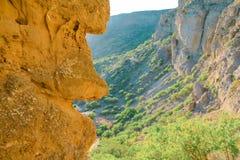 Mountains landscape at Cape Meganom, the east coast of the peninsula of Crimea. Beautiful nature, Colorful background. stock images