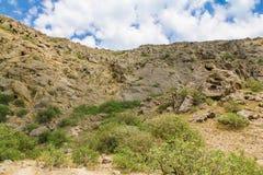 Mountains landscape at Cape Meganom, the east coast of the peninsula of Crimea. Beautiful nature, Colorful background. stock image