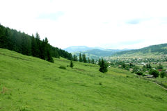 Mountains landscape Carpathian Stock Photo