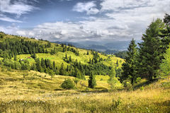 Mountains landscape in Carpathians, Ukraine Stock Photo
