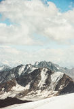 Mountains Landscape and clouds sky Travel aerial Royalty Free Stock Photography