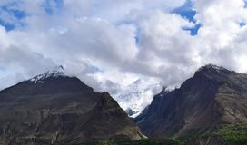 Mountains landscape in cloudy day. Cloudy weather in the mountains stock images