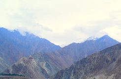 Mountains landscape in cloudy day. Cloudy weather in the mountains royalty free stock image