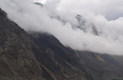 Mountains landscape in cloudy day. Cloudy weather in the mountains royalty free stock photos