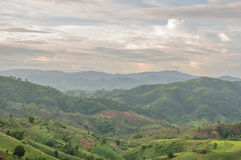 Mountains landscape. Mountains and forests landscape in Thailand Royalty Free Stock Photo