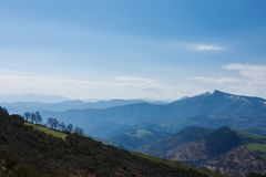 Mountains Landscape in Galicia, Spain Stock Photography