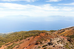 Mountains landscape, islands and ocean Stock Photography