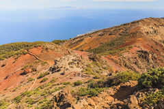Mountains landscape, islands and ocean Stock Photos
