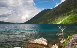 Mountains landscape and lake. Stock Photography