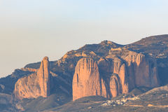 Mountains landscape,. Mallos de Riglos, Aragon, Spain Royalty Free Stock Photo