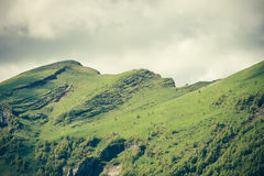 Mountains Landscape moody weather clouds Summer Royalty Free Stock Photography