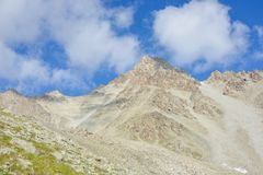 Mountains landscape near peak Konev. Mountains landscape rocks, sky, cloudy Stock Photography