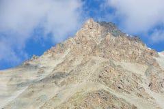 Mountains landscape near peak Konev. Mountains landscape rocks, sky, cloudy Stock Images