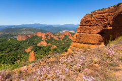 Mountains landscape near Ponferrada.  Las Medulas Stock Photo