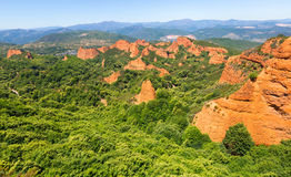 Mountains landscape near Ponferrada.  Las Medulas Royalty Free Stock Images