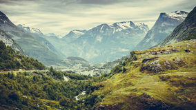 Mountains landscape in Norway. Royalty Free Stock Photo