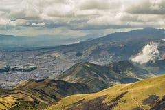 Mountains Landscape Quito Ecuador Stock Images