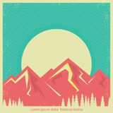 Mountains landscape retro background for text Stock Photo