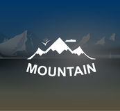 Mountains landscape retro vector background Royalty Free Stock Photography