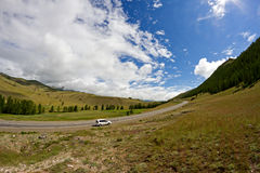 Mountains landscape road car Stock Photo
