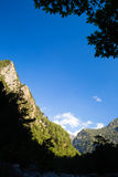 Mountains landscape, Samaria Gorge in Crete Greece Royalty Free Stock Photography