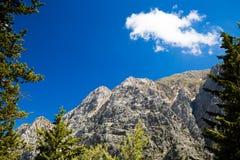 Mountains landscape, Samaria Gorge in Crete Greece Royalty Free Stock Photos