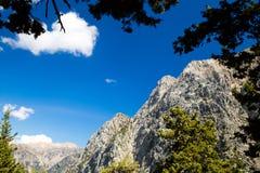 Mountains landscape, Samaria Gorge in Crete Greece Stock Photos