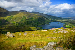 Mountains Landscape. Scenic view over mountains and lake on sunny day Stock Photography