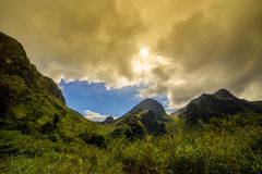 Mountains landscape with Storm Cloud Royalty Free Stock Photo
