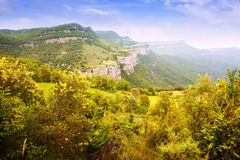Mountains landscape in summer. Collsacabra Royalty Free Stock Images