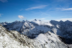 Mountains landscape, sunny day in Tatras Royalty Free Stock Images