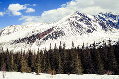 Mountains landscape, sunny winter day in Tatras Royalty Free Stock Photo