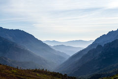 Mountains landscape, sunset in Corsica Royalty Free Stock Photo