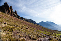 Mountains landscape, sunset in Corsica Royalty Free Stock Photos