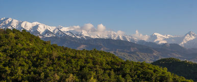 Mountains landscape, Tien-Shan Mountains, Almaty, Kazakhstan Royalty Free Stock Image