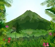 Mountains landscape of tropical background Stock Images