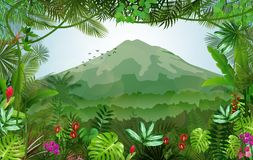 Mountains landscape of tropical background Royalty Free Stock Photo