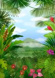 Mountains landscape of tropical background Royalty Free Stock Photos