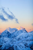Mountains Landscape Ushba Caucasus In Russia Royalty Free Stock Image